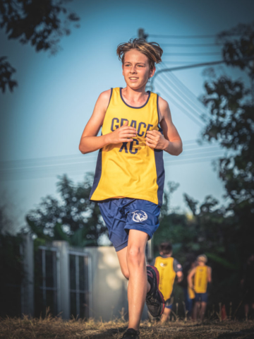 My son racing for GIS Cross Country